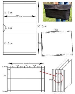 Выкройка чехла с размерами