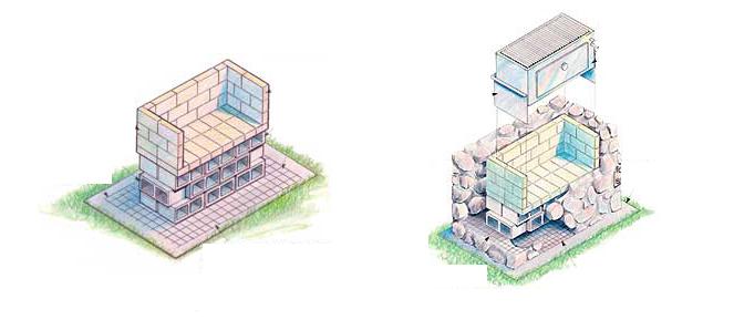 Мангал из камня постройка, шаг 2