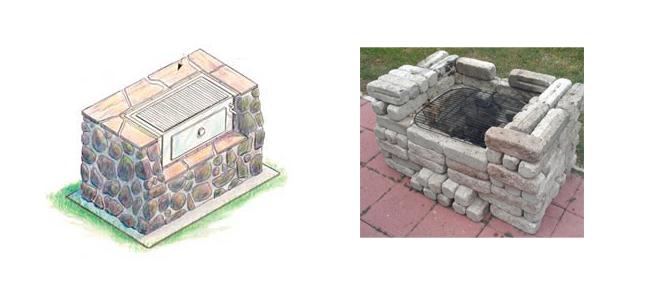 Мангал из камня постройка, шаг 3