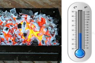 Какая температура в мангале?